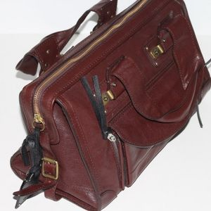 CHLOE Tracey Brown Leather Satchel Bag